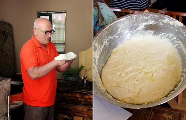 הבצק לפוקאצ'ה גמיש ורך, מה שעוזר לו לתפוח ולהתנפח בתנור. צילום: קרן ביטון כהן