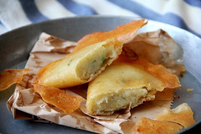הפירה ממש נמס בפה כשאוכלים את הבריק חן. בריק במילוי תפוחי אדמה