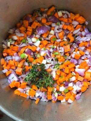 ירקות שורש תבשיל בשר