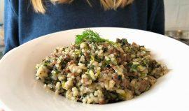 בחש : תבשיל אורז בוכרי עם עשבי תיבול ובשר