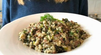 בחש בוכרי: תבשיל אורז עם בשר ועשבי תיבול