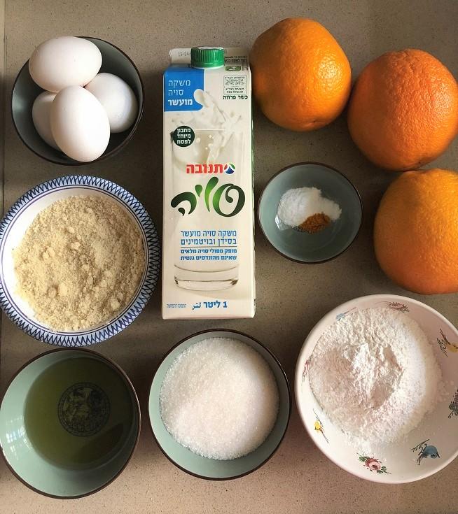 מצרכים עוגת תפוזים