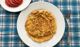 עג'ה - חביתה עם גבינה עיראקית