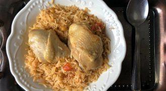 פלאו בג'יג': אורז אדום עם עוף