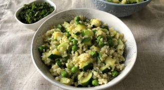 תבשיל בורגול וירקות ירוקים