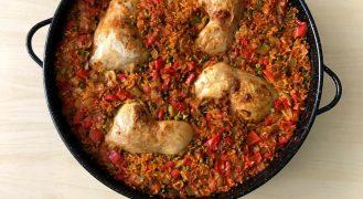 מתכון פאייה:תבשיל אורז עם עוף ספרדי