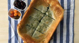 מאפה פילו ותרד בסגנון יווני