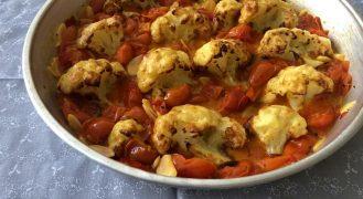 מתכון כרובית ברוטב עגבניות שרי
