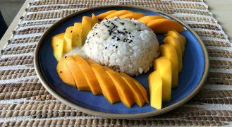 מנגו סטיקי רייס • קינוח אורז תאילנדי