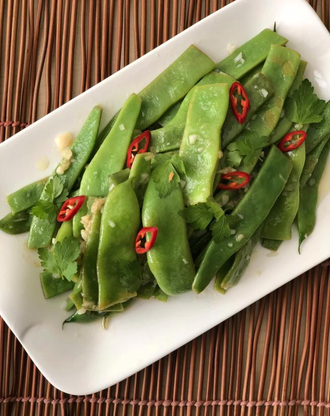 שעועית ירוקה בשום ולימון
