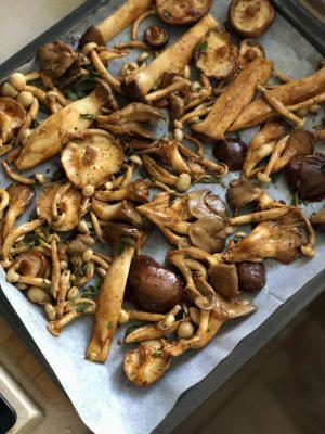 פטריות בתנור