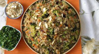 מתכון תבשיל קינואה עשיר עם המון ירקות