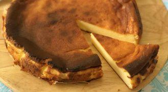 עוגת גבינה באסקית הכי קלה בעולם