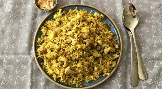כרוביג'דרה: מג'דרה אורז ועדשים עם כרובית